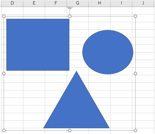 複数の図形をグループ化する方法03